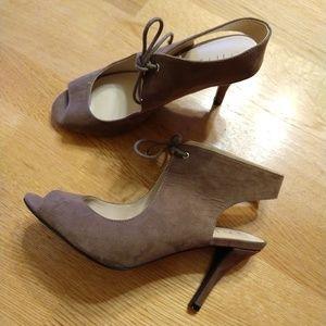 Shoes - Unisa jiliee peep toe Faux Suede heels Size 9.5